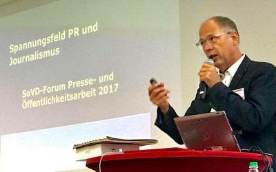 Vortrag Spannungsfeld PR und Journalismuns